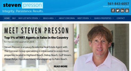 Top FL Realtor, Steven Presson Launches His New State-of-the-Art Website